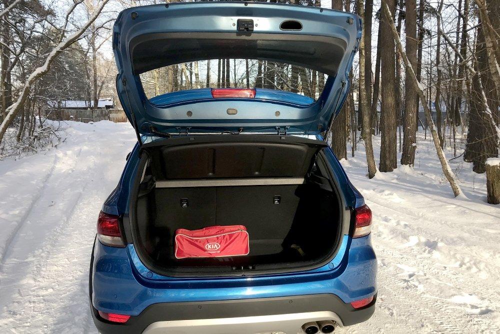 Багажник КИА Рио Х Лайн – размеры, объем, использование